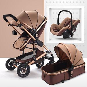 Cochecito de bebé multifuncional Cochecito de bebé plegable 3 en 1 cochecito de bebé Silla de paseo portátil ligera para cochecito