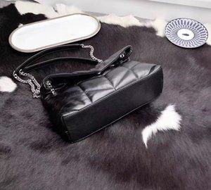2019 famoso Desinger bolso genuino de calidad superior de cuero suave de cabra convertible de la aleta debe empaquetar Mujeres metal cadena del bolso envío