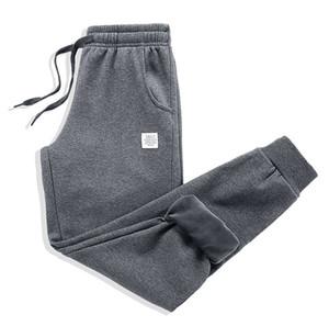 Épais Fleece Jogger Pantalon Hommes Coton Pantalon Homme Hiver chaud velours Pantalon Survêtement Joggers Automne Hiver M-4XL