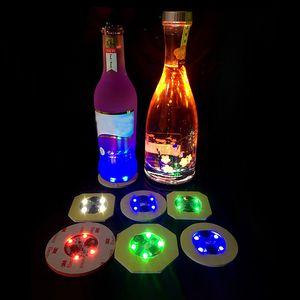Led Bar Coaster Bottle Light Glorifier Led Cup Sticker For Drinks Cup Holder Light Wine Liquor Bottle Wedding Party Decoration HH9-2386