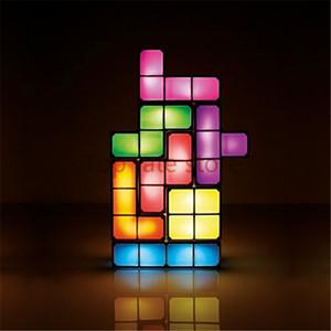Chegada Nova Tetris Puzzle Light Led constructible B Bloqueio Desk presentes lâmpada decorativa For Kids DIY retro estilo de jogo Chrismas Venda