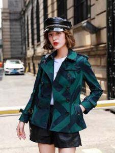 горящие продажи! Женщины Мода Британский Короткий Стиль Требовое пальто / Высококачественный Бренд Дизайн Двухбордовой траншеи для женщин Размер S-XXL 3 Цвета
