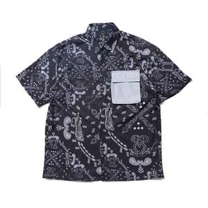 Pleine fleur imprimé à manches courtes Homme Hip Hop en vrac shirt décontracté Streetwear Oversize T-shirts d'été