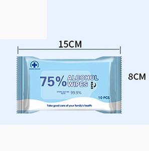 10Shiesties Pack Alck Disinfection Влажные салфетки Портативные 75% Алкогольные тампоны Продукты Wipes Antiseptic Cleanser Стерилизация Стерилизация Влажная Wipe FY2021