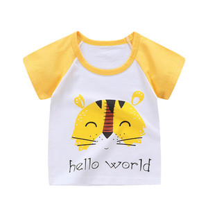 Fashion Cotton Boys Girls T-Shirts Children Kids Cartoon Print T shirts Tops Clothing Tee
