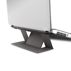 Ayarlanabilir Dizüstü Standı Laptop Pad Yapışkan Görünmez iPad MacBook Laptop Katlama Parantez Taşınabilir Tablet Tutucu Standı