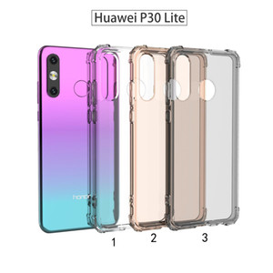 Applicable to Huawei P30 Lite mobile phone case military anti-fall soft suit military grade TPU latest quadrangle anti-fall