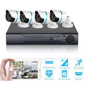 Видеонаблюдение 4CH AHD 1080N DVR Система День Ночь Водонепроницаемая камера наружного видеонаблюдения Системы домашней безопасности