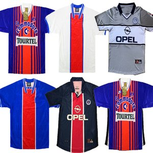 93 94 95 98 99 00 02 03 Retro Paris Soccer Jerseys 1993 1994 1995 98 99 02 03 RAI WEAH GINOLA Retro classic Soccer shirt football uniform