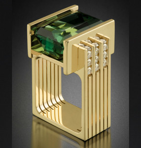 14K Ouro Amarelo Esmeralda Anel Jóias por Mulheres Rectangel Verde Topaz Emerald Anillos biżuteria Gemstone Ouro 14K Fahsion Anel