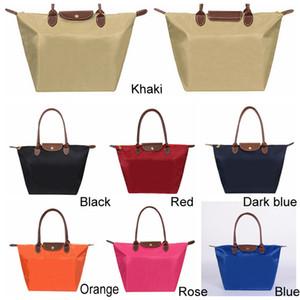 7 ألوان كبير السعة الكتف المحمولة أكسفورد زلابية حقيبة التسوق حمل الحقائب أعلى مقبض كاندي اللون الأفاق حقيبة التخزين DH0547-2 T03