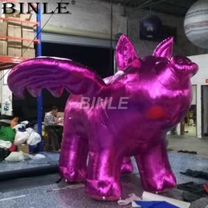 شعبية العملاق خنزير تحلق نفخ نفخ الكرتون الخنزير الوردي مع أجنحة المعرض ل