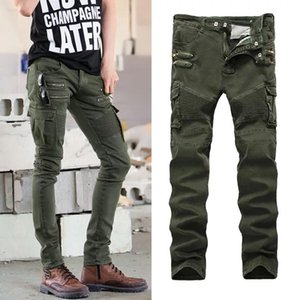 Mens 2020 Yuxury roupas de grife Jeans Designer Calças justas Ripped Destruído estiramento Slim Fit Calças com furos para Homens Atacado-Ganhos Homens