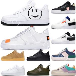 2020 1 Un dunk Hommes Femmes Chaussures de course Plate-forme QS Chaussures de sport FO Utilitaire Noir Blanc Lin JDI Low High Cut Triple un Formateurs du skate-board
