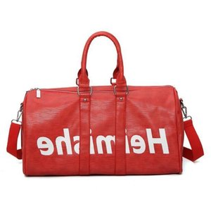 Top Quality Genuine Leather new fashion mens travel bag men Women duffle bag brand designer luggage handbags large capacity sports bags18ca#