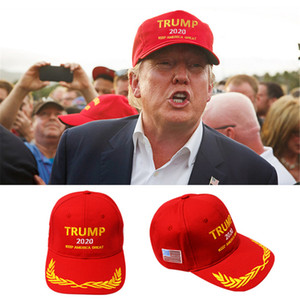 Бесплатная доставка Donald Trump 2020 Бейсболка Вышивание сделать Америка Великий Снова Hat держать Америка Great Cap