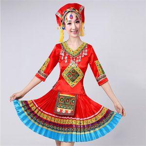 Chinese Folk Dança Trajes minoritários Xingjiang Roupa Desempenho National Dance usar trajes vestido chinês de mulheres