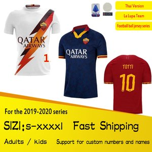 Freies Verschiffen 19 20 AS Rom Fußball-Trikots KOLAROV 2019 2020 maglia da calcio DZEKO Fußball-Hemd CENGIZ UNDER Mens Kids Kit Uniformen