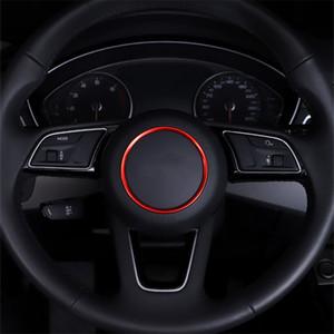 Volante círculo decoração Tampa guarnição Etiqueta Car Styling Para Audi A3 A4 Q3 Q5 A5 A6 A1 Automotive Acessórios Interior
