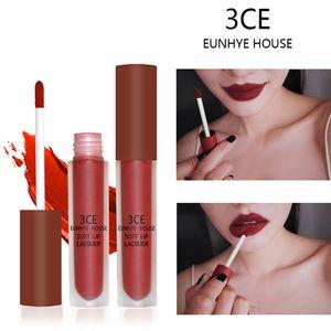 Tamax mp004 10 colores labios labios labios rojo lipgloss impermeable cosméticos labios tinte batón marrón terciopelo líquido lápiz labial 3ce eunhye house