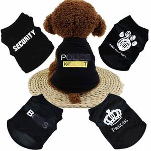 Yavru Chihuahua Ucuz Tulum Kıyafet İçin DHL Ücretsiz Yeni Yaz Köpek Giyim Giyim Kedi Yelek Küçük Triko Pet arz Karikatür Giyim t shirt