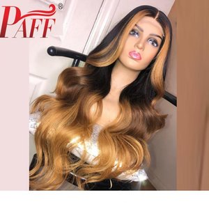 PAFFO 13 * 6 partie Profonde vaga de cuerpo Avant de lacet perruques de cheveux humains mettre en évidence la couleur