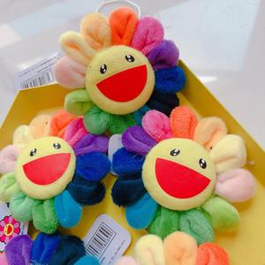 Strap flor no da íris Pinos Plush Sun Flower Broche espeto colorido pendant carteira de Acessórios Keychain Toy presentes do favor E3402