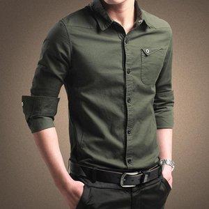 Men's shirts 2020 spring men's shirts long-sleeved cotton shirt young military men Korean Slim tide Business