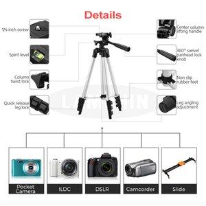 Universal tripé suporte de câmara portátil Phone Holder Nível 4 Secção Profissional SLR Camera Tripod Fotografia alumínio