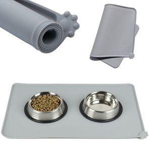Wasserdicht Pet Feeding Matte Silikon-Hund Welpen Bowl-Auflage-Feed Platzierung Hundezubehör Faltbare