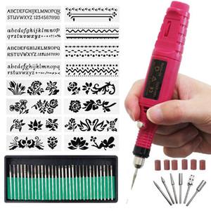 Nouveau Miniature Gravure Pen bricolag Vibro Gravure Kit d'outils pour Verre Céramique Métal Bijoux Bois Plastique, nous fiche