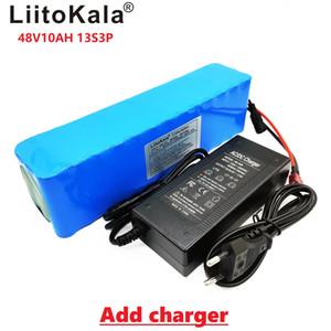 LiitoKala е Moto-Bateria 48 v 10AH литий-ионный аккумулятор комплект де conversão bicicleta Bafang 1000 ж е Каррегадор
