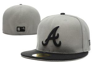 Buena calidad Atlanta Braveses Nueva Er Auténtica colección Sombrero ajustado en el campo bajo perfil 59FIFTY