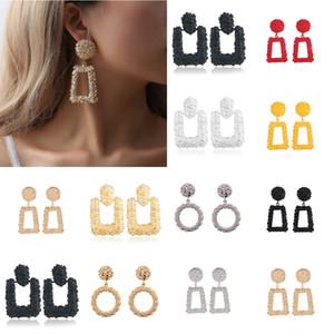 Pendientes grandes de la vendimia para las mujeres de color pendientes de declaración geométricos de oro 2018 metal Earing joyería colgante de tendencia