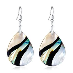 Orecchini orecchini abalone geometrici orecchini di conchiglia ciondola unico colorato orecchini donne orecchini gioielli decorazione ES1D025 spedizione gratuita