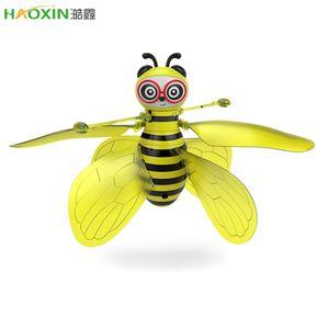 Haoxin Mini Drone RC Bee induction d'avion de détection infrarouge main Capteur RC Portable Hélicoptère RC jouets volants Avions de jouets pour enfants cadeau