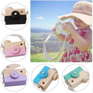 Çocuk Sevimli Ahşap Kamera Çocuk Doğum Günü Hediyeleri Çocuk Keepsakes Ev Dekorasyon Nordic Stil Ahşap Kamera Oyuncak WY365Q