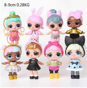 Children's gift 8 pieces set surprise doll series toy cute cartoon table Decoration gift for kids