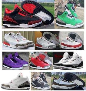 Box 3s Tinker Üniversitesi Kırmızı Oregon Ördekler ile Erkek Basketbol Ayakkabı Yama Tasarımcı Sneakers 3 Siyah Çimento Adam Sepetleri Spor Ayakkabı geçiş