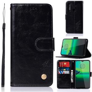 Ретро Vintage PU кожа флип бумажник чехол для Motorola Moto G8 Plus G8 Play E6 Plus Z4 G7 Мощность E5 Z3 G6 X4