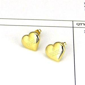 2020 argento superiori oro rosa G Stamp Heart Love Orecchini in acciaio inox Orecchini di lusso di disegno per le donne orecchini all'ingrosso