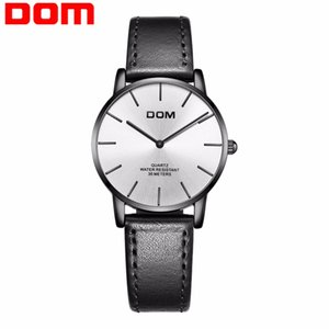 DOM Watch Montre Femme Women Top Brand роскошные женские часы Водонепроницаемые ультратонкие кожаные Кварцевые наручные часы Lady G-36BL-7MT