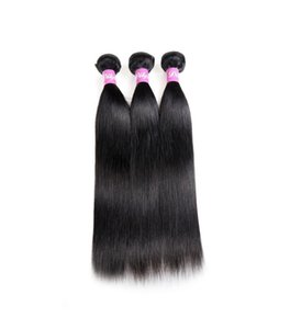 Straight Human Hair Extensions 3 Bundles Brazilian Indian Malaysian 100% Unprocessed Human Hair Weaves Natural Color 8-28inch