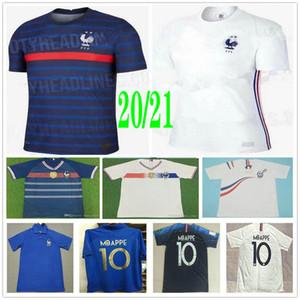 Hombres Mujer Niños 2020 2021 Francia 10 camisetas de fútbol Mbappé Griezmann Pogba GIROUD ZIDANE Varane KANTE encargo 2018 hogar lejos camiseta de fútbol