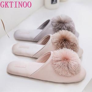 GKTINOO bonito Mulheres Chinelos Interiores Mulheres Casa sapatos de verão das senhoras Slides T200411