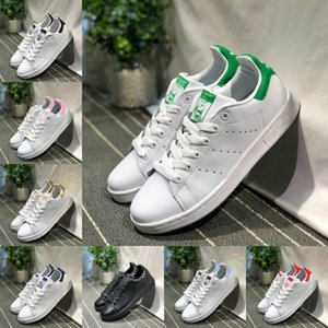 2019 adidas Stan Smith Shoes New adidas superstar Shoes Zapatos de piel Casual Superstars monopatín de perforación Blanco Negro Verde Azul Calzado deportivo