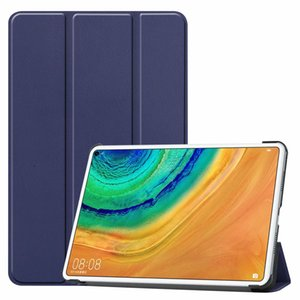 Magnetic Trifold Leather Case Tablet Folio 3 Fold for Huawei MediaPad T5 10 M5 Lite 10 M6 10.8 2019 MatePad Pro 10.8 20pcs lot