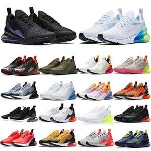 Top 270 triples blancas negras del arco iris 270S zapatillas deportivas KPU Hombres Mujeres Outdoor Training Tamaño Deportes CNY violeta brillante de oro zapatillas de deporte 36-45