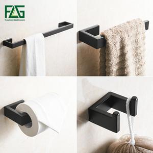 FLG 304 Acciaio Inox Nero accessori da bagno set di asciugamani Bar Holder Porta accappatoio Wall Paper Bagno Mounted Hardware Sets G124-4B SH190919