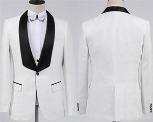 Men Suits Comfortable White Groom Wear Casual Army Champagne Lapel Business Tuxedos for Formal Wedding(Blazer+Pants+Vest)